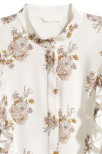 Patterned blouse - White/Floral - Ladies | H&M CN 3