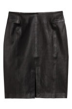 Leather pencil skirt - Black - Ladies | H&M CN 2
