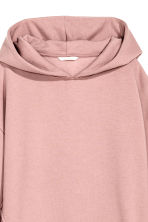 Oversized hooded top - Powder pink -  | H&M 3