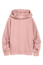 Oversized hooded top - Powder pink -  | H&M 2