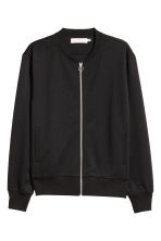 Jersey bomber jacket - Black - Men | H&M 2