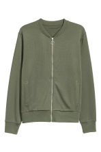 Jersey bomber jacket - Khaki green - Men | H&M 2