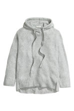 Knitted hooded jumper - Grey marl - Ladies | H&M 2