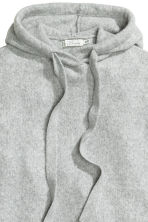 Knitted hooded jumper - Grey marl - Ladies | H&M 3