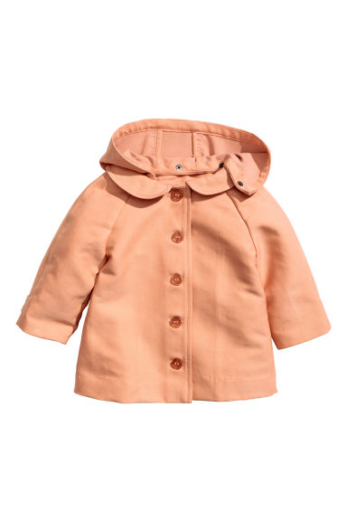 Coat with a hood - Apricot - Kids | H&M CN 1