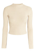 Ribbed jumper - Natural white - Ladies | H&M CN 2