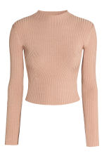 Ribbed jumper - Powder beige - Ladies | H&M 2