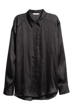 Satin blouse - Black - Ladies | H&M 2