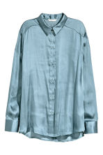 Satin blouse - Pigeon blue - Ladies | H&M 2