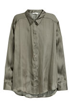 Satin blouse - Khaki green - Ladies | H&M 2