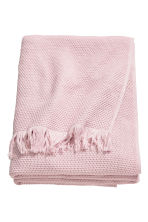 Jeté de lit gaufré en coton - Rose clair - Home All | H&M FR 1