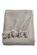 Waffled cotton bedspread - Grey - Home All | H&M CN 1