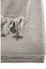 Waffled cotton bedspread - Grey - Home All | H&M CN 2