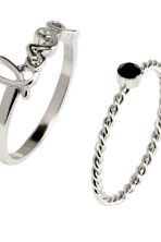 4-pack rings - Silver - Ladies | H&M 2