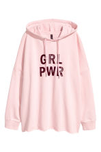 Printed hooded top - Light pink - Ladies | H&M 2