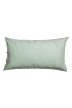 Washed cotton pillowcase - Dusky green - Home All | H&M CN 2