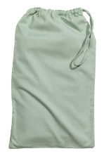 Washed cotton pillowcase - Dusky green - Home All | H&M CN 3