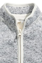 Knitted fleece jacket - Grey -  | H&M 2