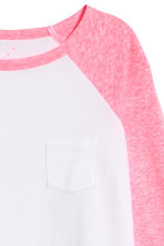 Long-sleeved jersey top - Neon pink marl -  | H&M CN 3