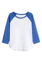 Long-sleeved jersey top - Cornflower blue -  | H&M 2