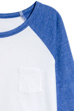 Long-sleeved jersey top - Cornflower blue -  | H&M 3