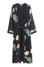 Patterned kimono - Black/Floral - Ladies | H&M GB 2