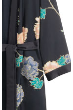 Patterned kimono - Black/Floral - Ladies | H&M GB 3