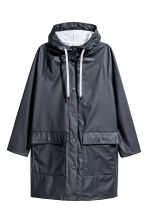 Rain coat with a hood - Dark blue - Ladies | H&M CN 2