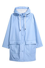 Rain coat with a hood - Light blue - Ladies | H&M GB 2