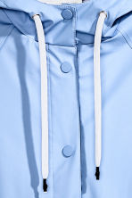 Rain coat with a hood - Light blue - Ladies | H&M GB 3