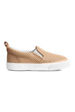 Slip-on leather trainers - Beige - Kids | H&M CN 2