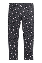 內搭褲 - Dark grey/Spotted -  | H&M 2