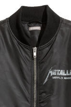 Printed bomber jacket - Black/Metallica - Men | H&M CN 4