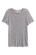 Silk-blend top - Grey marl - Ladies | H&M CA 2