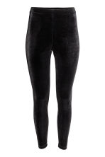 Velour leggings - Black - Ladies | H&M 2