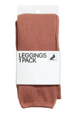Ribbed leggings - Rust - Ladies | H&M 2
