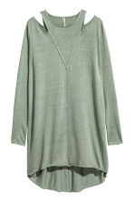 Cold shoulder dress - Khaki green - Ladies | H&M CN 2