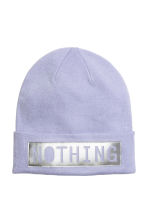 Hat with appliqué - Lavender - Ladies | H&M 1