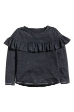Top con volant - Nero/glitter - BAMBINO | H&M IT 2