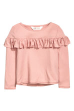 Frilled top - Dusky pink - Kids | H&M CA 2