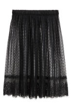 Knee-length lace skirt - 黑色 - Ladies | H&M CN 2