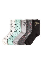 5-pack socks - Black/New York - Kids | H&M 1