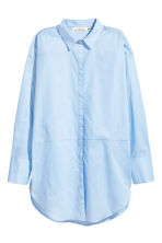 Long cotton shirt - Light blue - Ladies | H&M CN 2