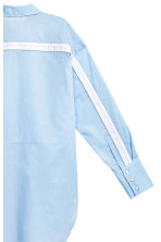 Long cotton shirt - Light blue - Ladies | H&M CN 3