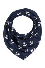 3-pack triangular scarves - Dark blue/Anchor -  | H&M 2