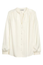 Satin blouse - Natural white - Ladies | H&M 2