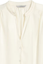 Satin blouse - Natural white - Ladies | H&M 3