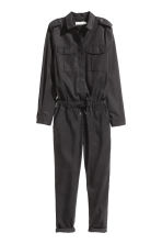 Lyocell-blend jumpsuit - Black - Ladies | H&M CN 2