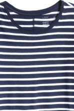 Long-sleeved top - Dark blue/Striped - Ladies | H&M 2