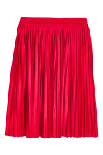 Pleated skirt - Red - Ladies | H&M CN 2